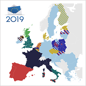 EU 2019 Election Result - Source: en.wikipedia.org/wiki/2019_European_Parliament_election