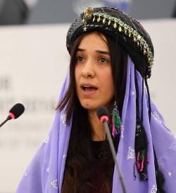 Yezidi activist and Nobel Peace Prize winner Nadia Murad