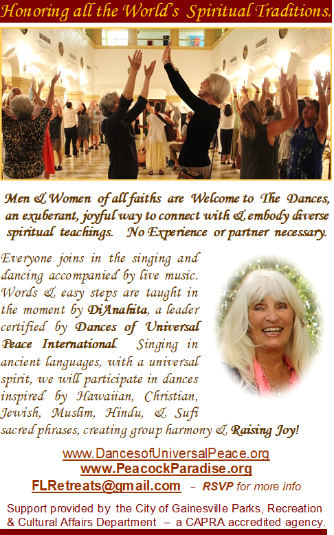 Men & women of all faiths are welcom to participate in the singing & dancing
