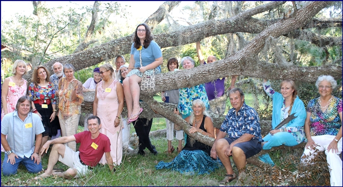 Sept 2017 dancers on the tree felled by Hurricane Irma