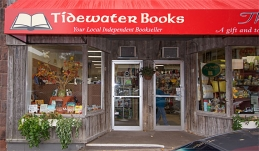 Tidewater Books storefront in downtown Sackville, New Brunswick