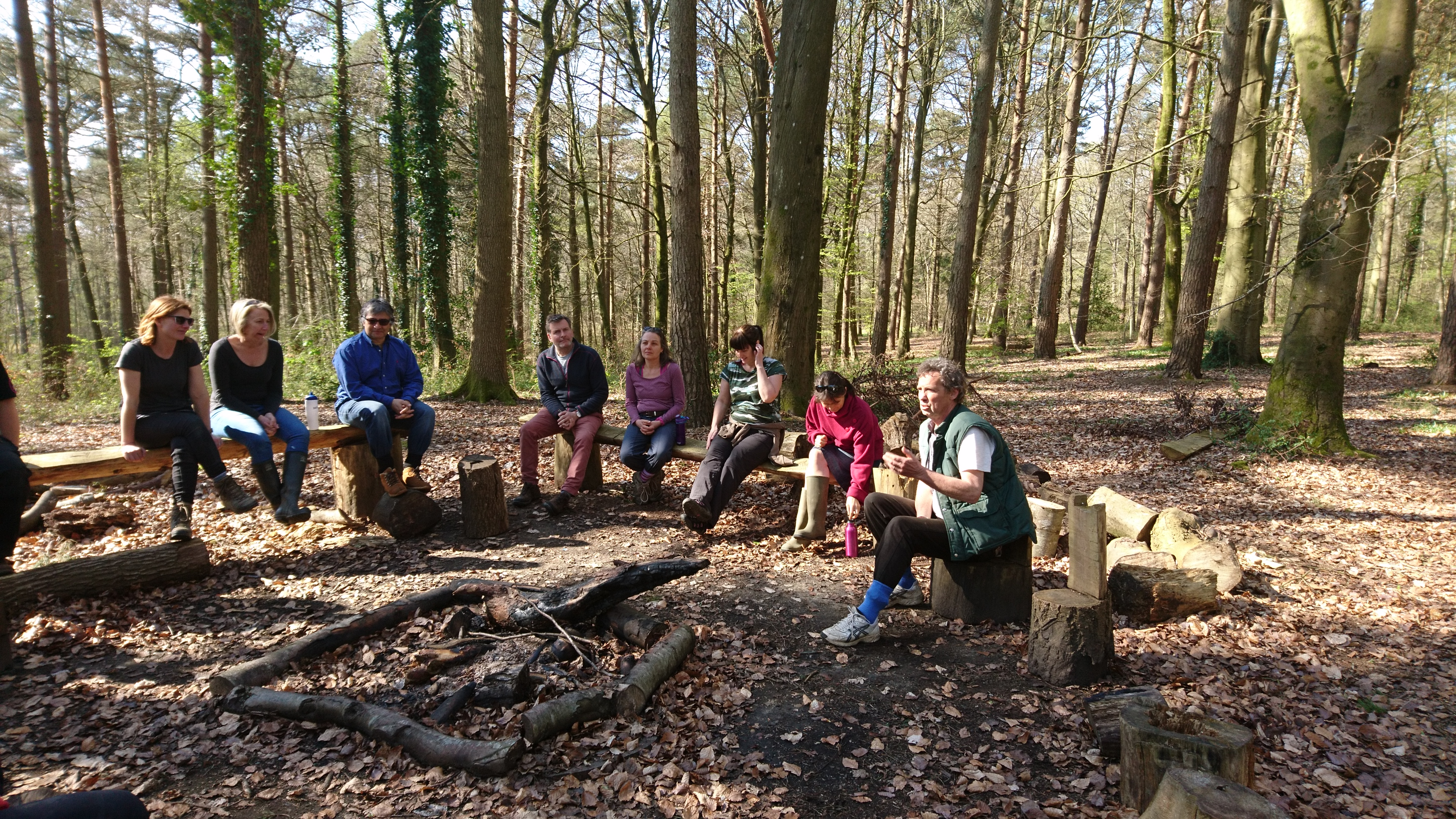 Alan with a group at Hazel Hill Wood
