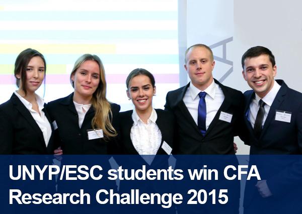 UNYP/ESC students win CFA Research Challenge 2015