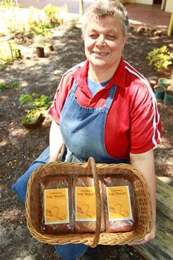 Sigi delivering rye bread