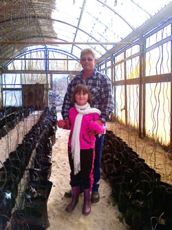 J.P. Dippenaar and daughter