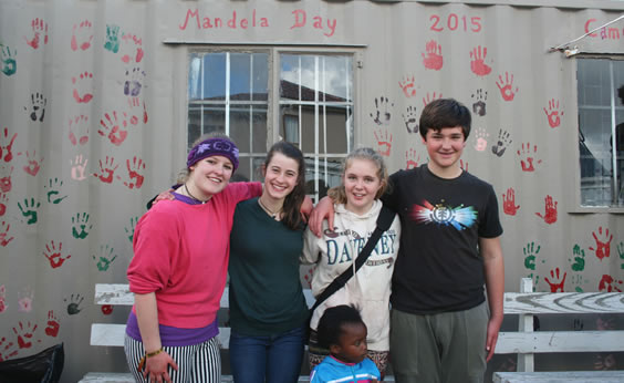 Mandela Day - painting a creche in Witsands