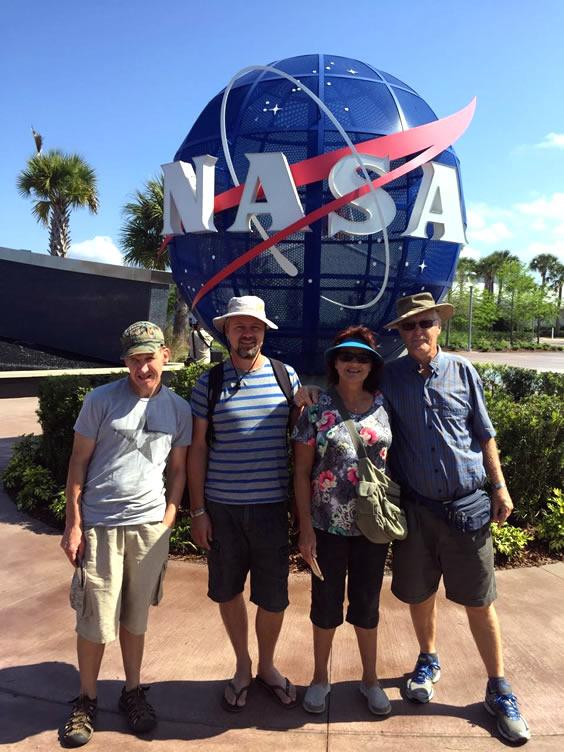 Justin at NASA in the USA