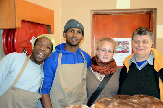 Sigi with Bakery team
