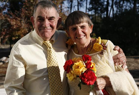 Derik & Rosheen on their wedding day