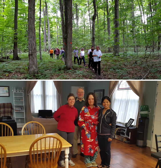Forest Walk in Camphill Nottawasaga & Independent Living House