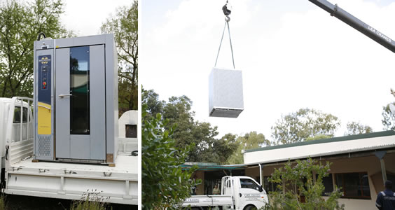 New oven delivered to Camphill Village West Coast bakery in 2014