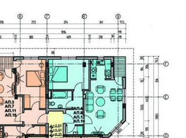 small section of architectural plan