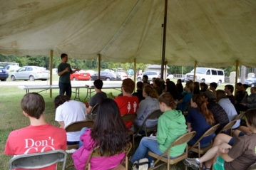 Robert teaching at the Global Missions Experience