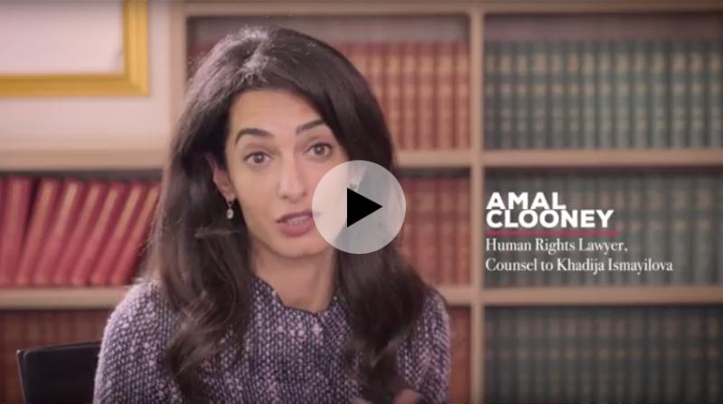 Amal Clooney, counsel to Khadija Ismayilova