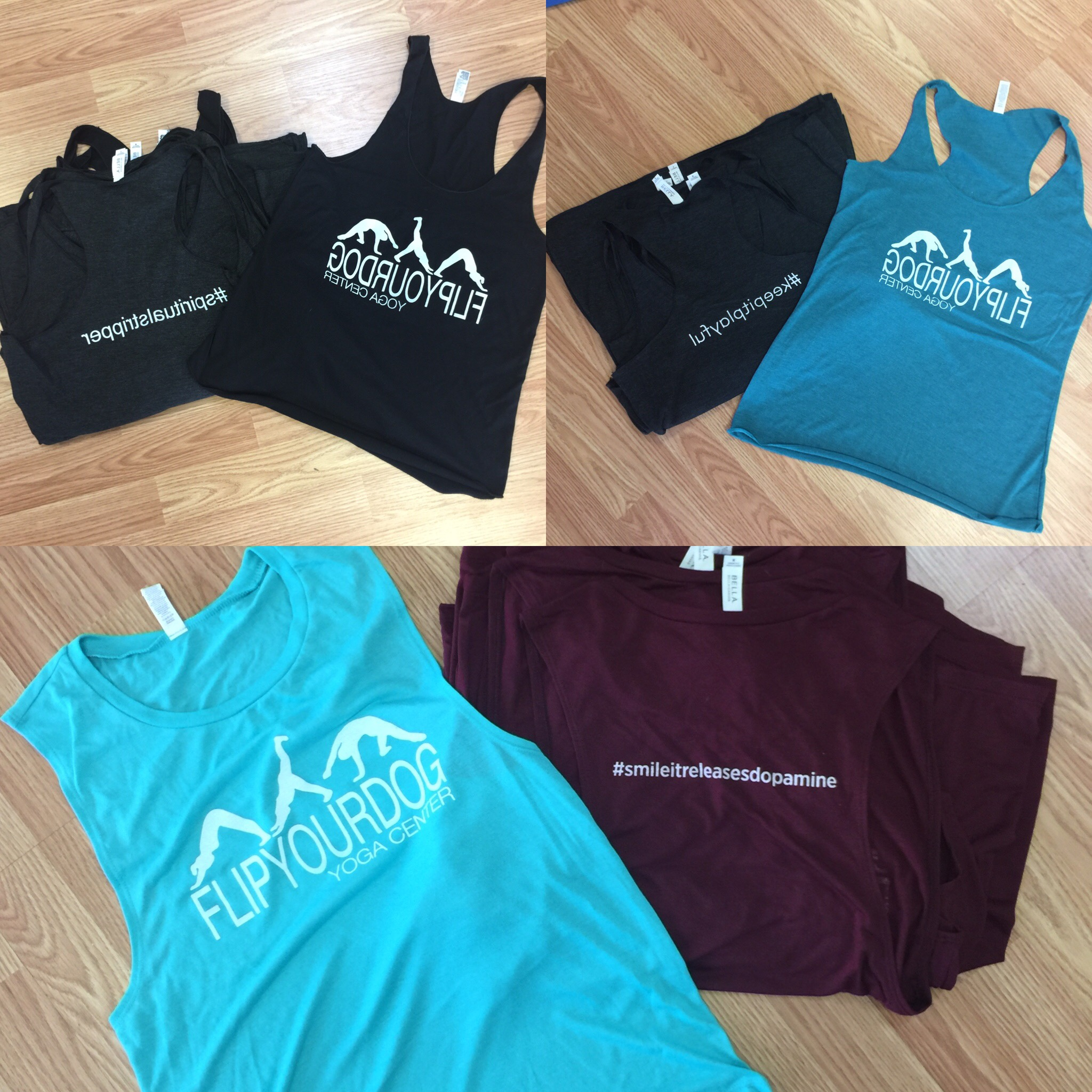 Flip Your Dog Yoga shirts are in! New styles in new hashtags…