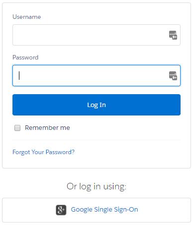 Name and password plus Google login