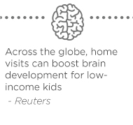 Across the globe, home visits can boost brain development for low-income kids