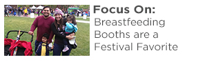 """Awesome.""  ""Thoughtful.""   ""Smart.""  Those were just a few of the words used to describe the breastfeeding and diaper changing booths provided by First 5 LA at the Los Angeles Times Festival of Books at the University of Southern California on a recent rainy April weekend."