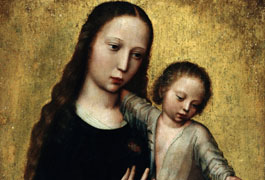 The Virgin Mary with the Child Jesus in a Shirt, Benson Ambrosius (1495-1550) / Wikimedia Commons