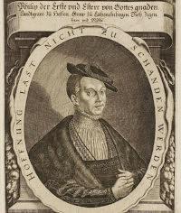 Philipp I. von Hessen, Grafik aus dem Klebeband der Hofbibliothek Arolsen