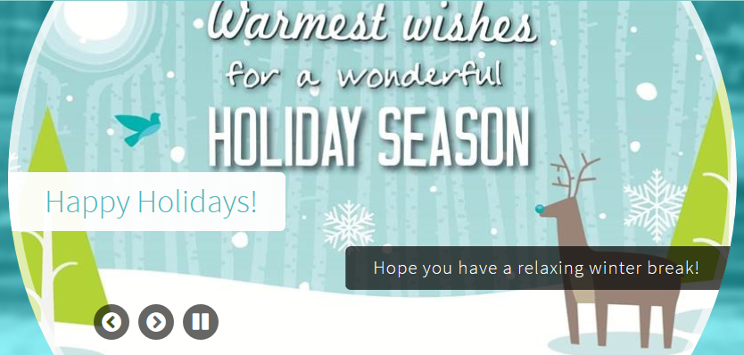 Warmest Wishes for a Wonderful Holiday Season