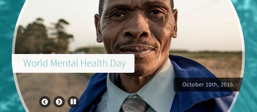 World Mental Health Day- Oct. 10th, 2015