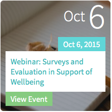 Surveys and Evaluation in Support of Wellbeing