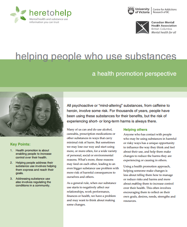 Helping people who use substances