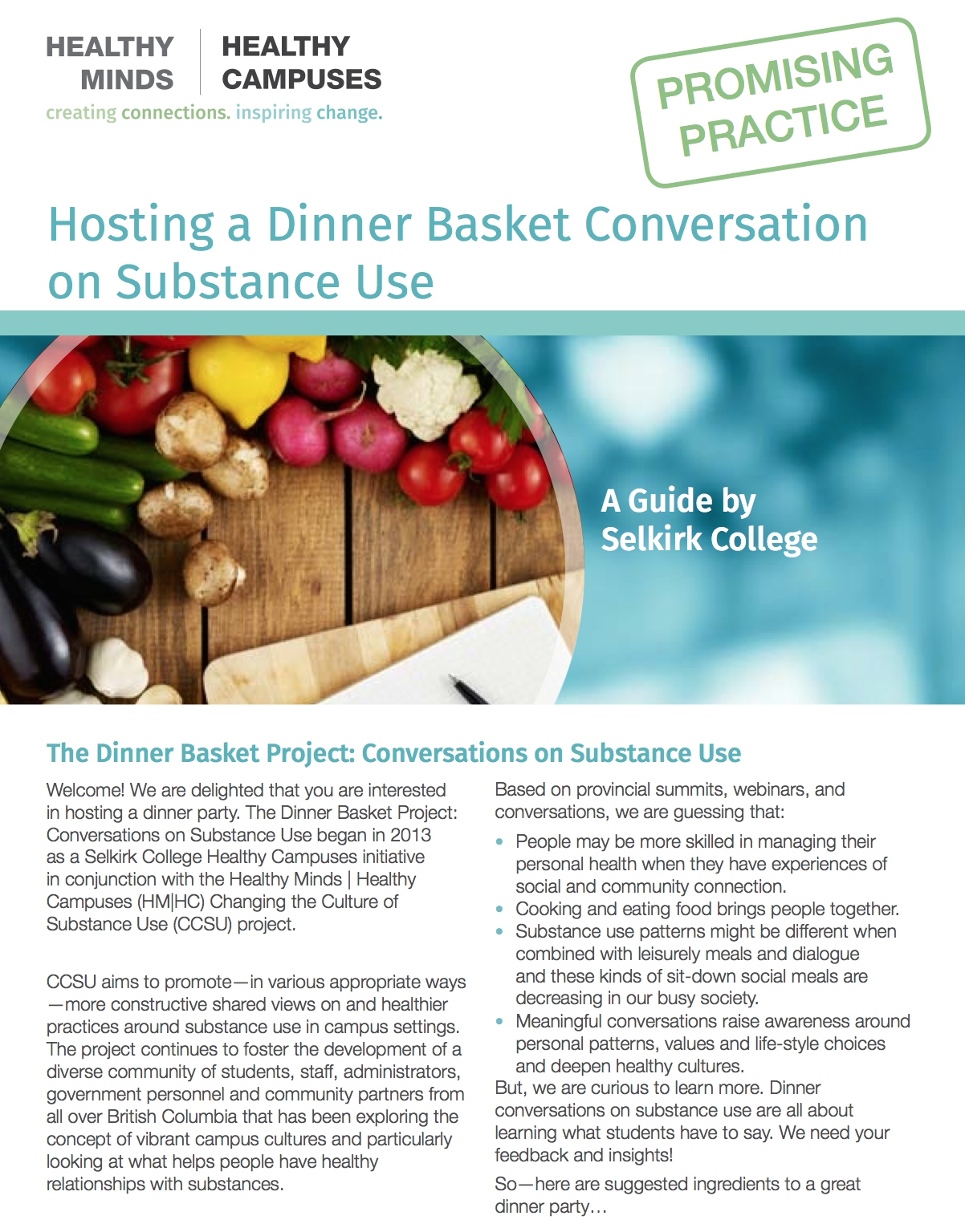 Hosting a Dinner Basket Conversation on Substance Use