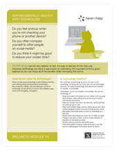 Wellness Module: Staying Mentally Healthy with Technology