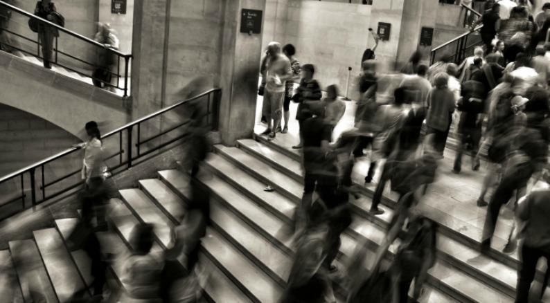 Campus Crowd Image
