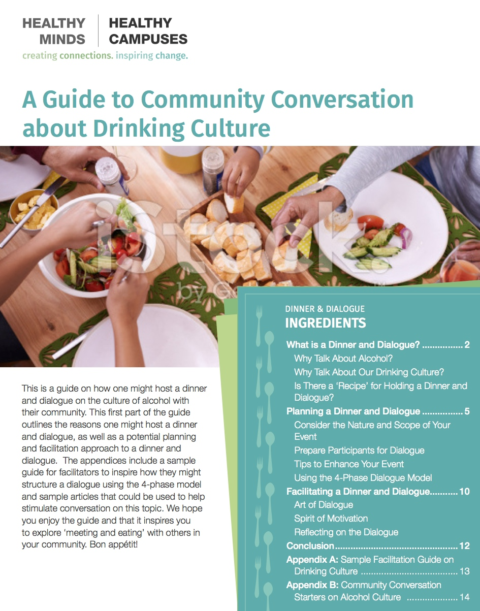 Dinner and Dialogue: Engaging Community in Conversations about Drinking Culture