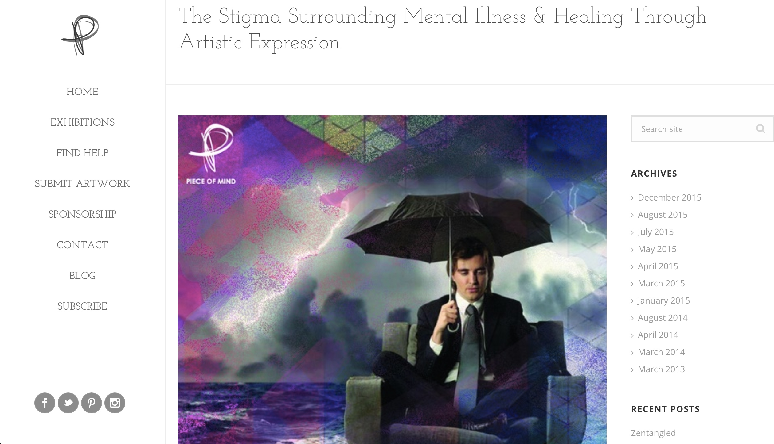 The Stigma Surrounding Mental Illness and Healing Through Artistic Expression