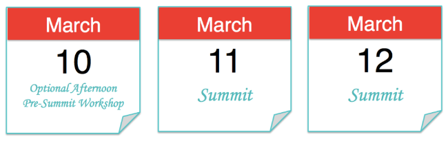 March 11 and 12, with pre-Summit workshops on March 10
