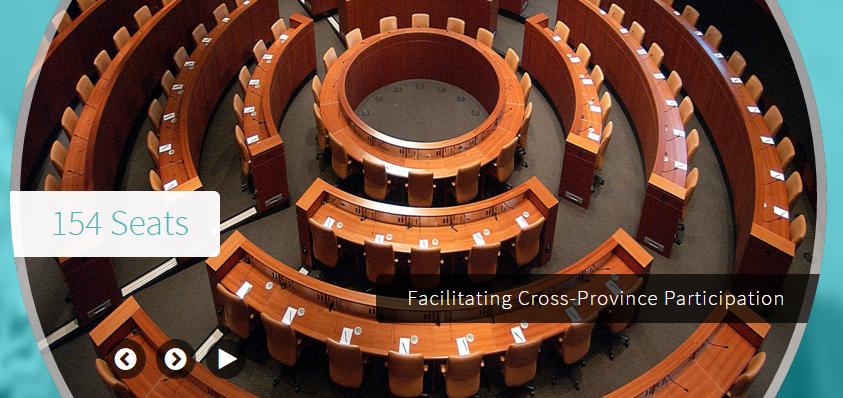 154 Seats. Facilitating Cross-Province Participation