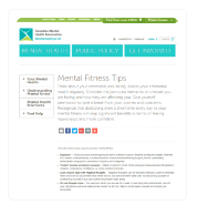 Mental Health Fitness Tips