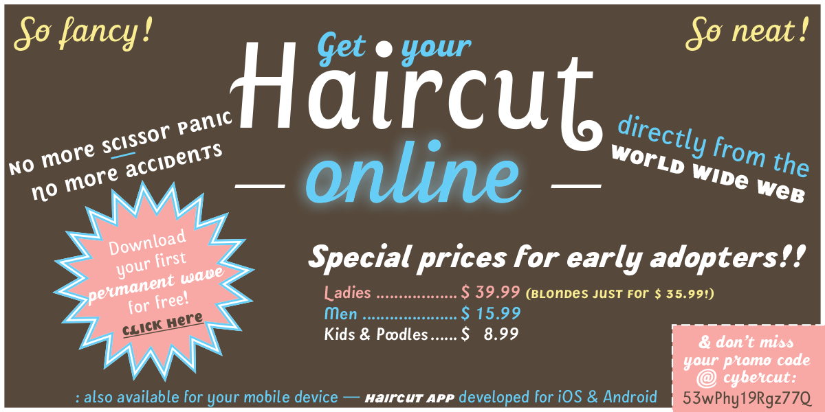 Get your haircut online