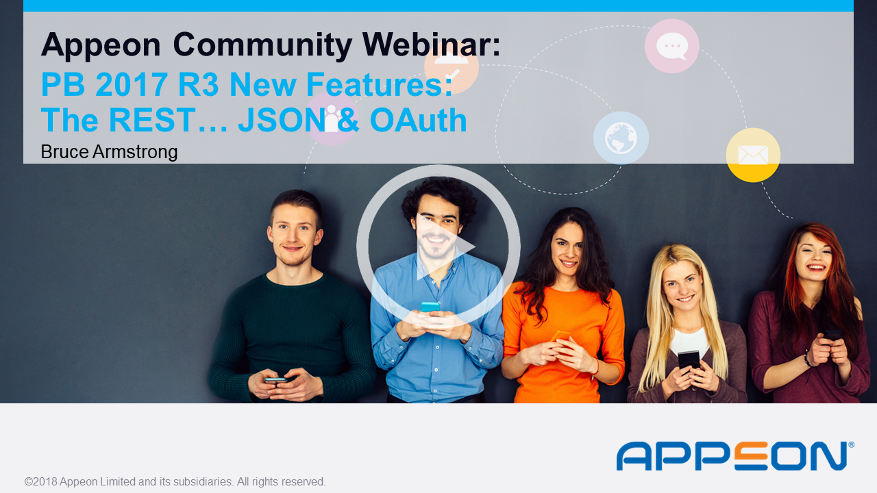 Recorded Webcast: The REST for DataWindow… JSON & OAuth - PB 2017 R3 New Features