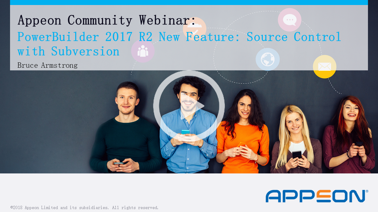 Recorded Webcast: Source Control using Subversion – a PowerBuilder 2017 R2 New Feature