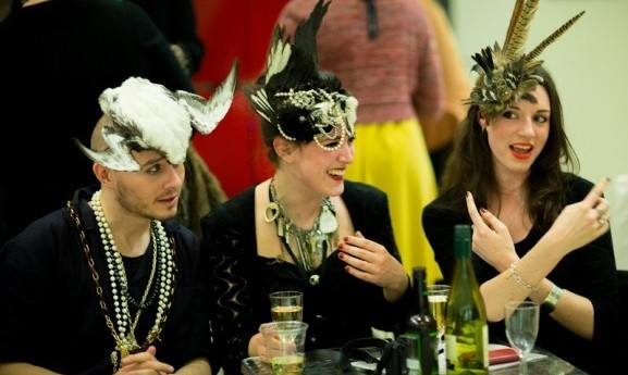 Adults enjoying themselves at a Horniman Late event
