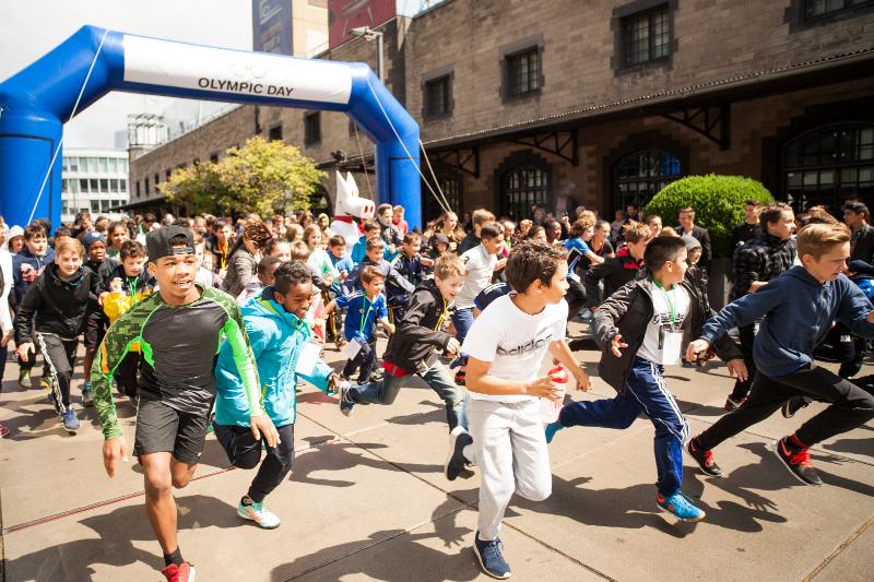 500 junge Starterinnen und Starter beim Olympic Day Run