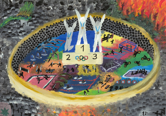 Olympiabegeisterung und kritische Töne: Vielfalt beim Malwettbewerb