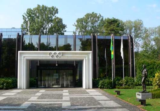 Das Hauptgebäude des IOC in Lausanne