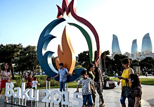 Baku während der European Games