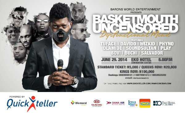 Basketmouth Uncensored Dysfunctional Mind image