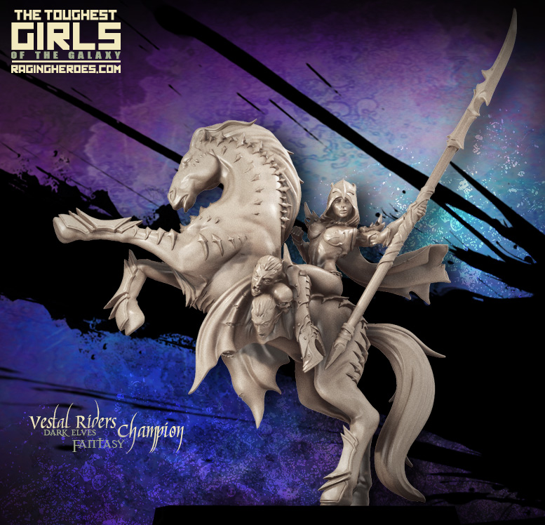 Vestal riders champion sci-fi miniatures