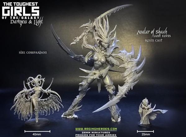 Avatar of Shaah lust elves resin cast miniatures