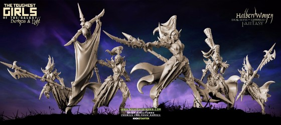 HalberdWomen (Dark Elves - Fantasy) Command Group
