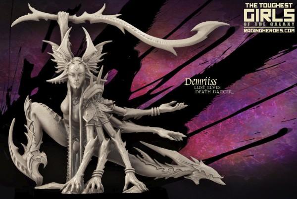 Demriiss lust elves death dancer miniatures