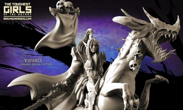 Raging Heroes Draahk Riders Varanith miniatures
